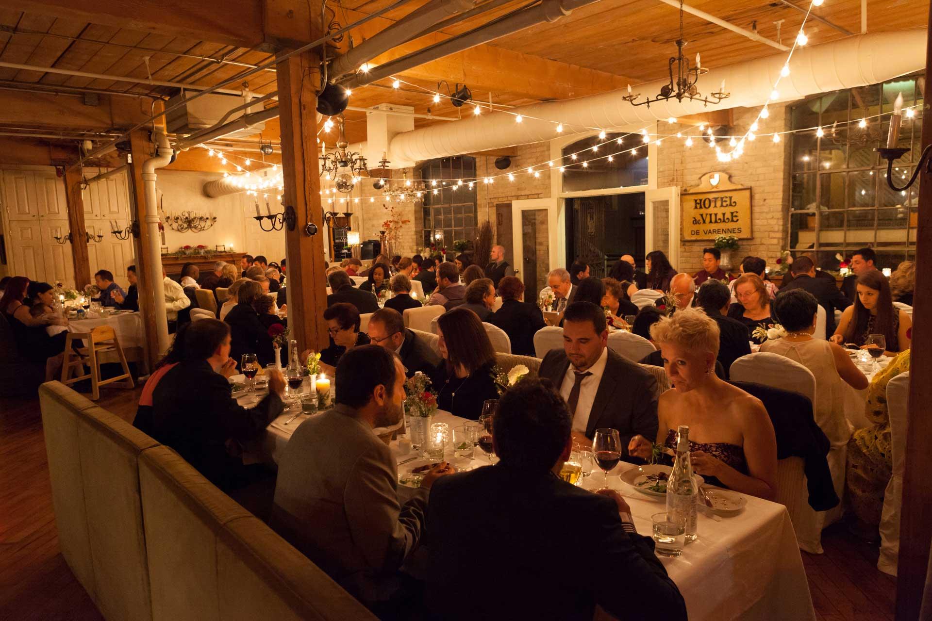 Unique Wedding Venues Toronto - Wedding Reception - Globe Lights