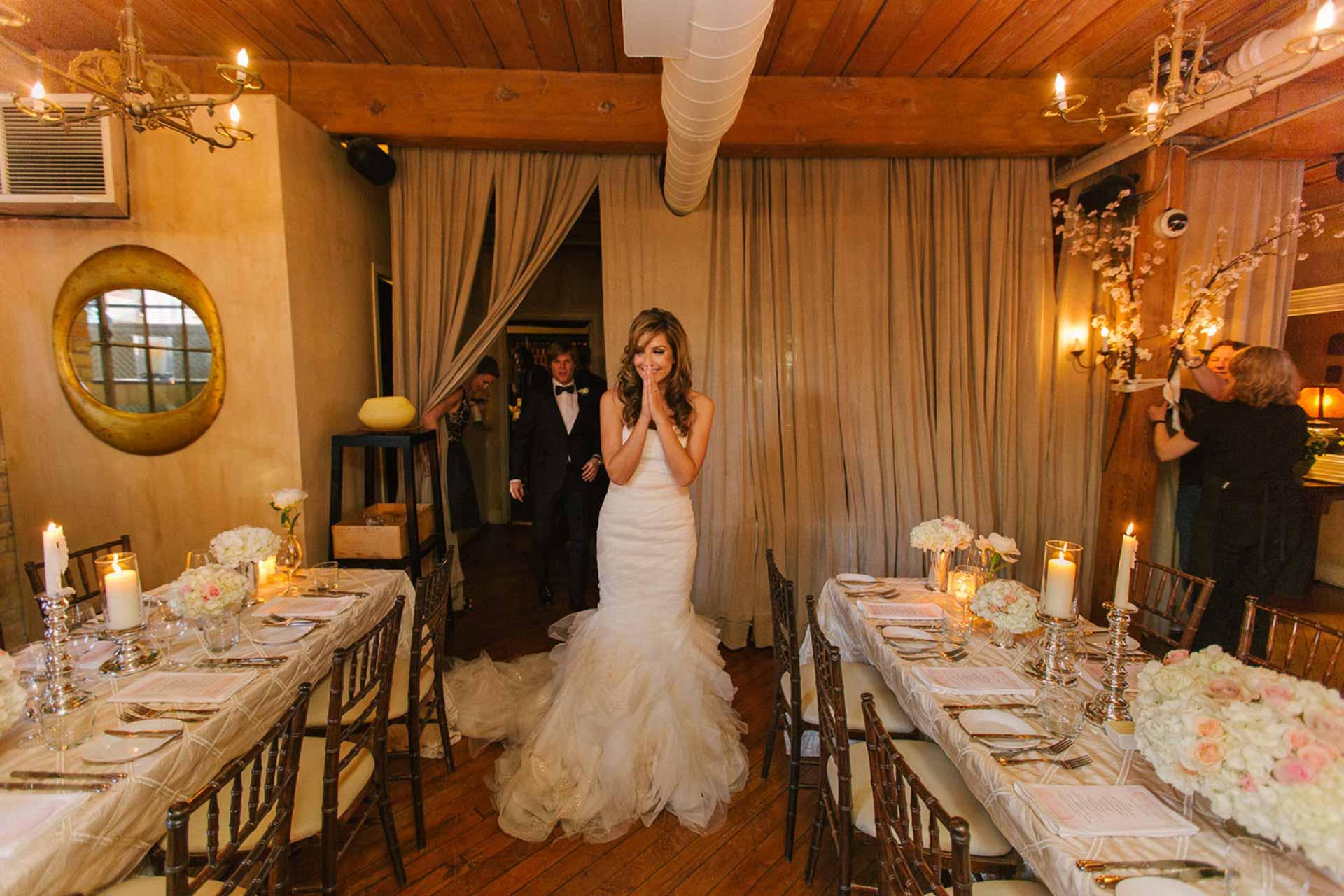 Elegant Toronto Wedding Venue - Restaurant Reception Tablescape
