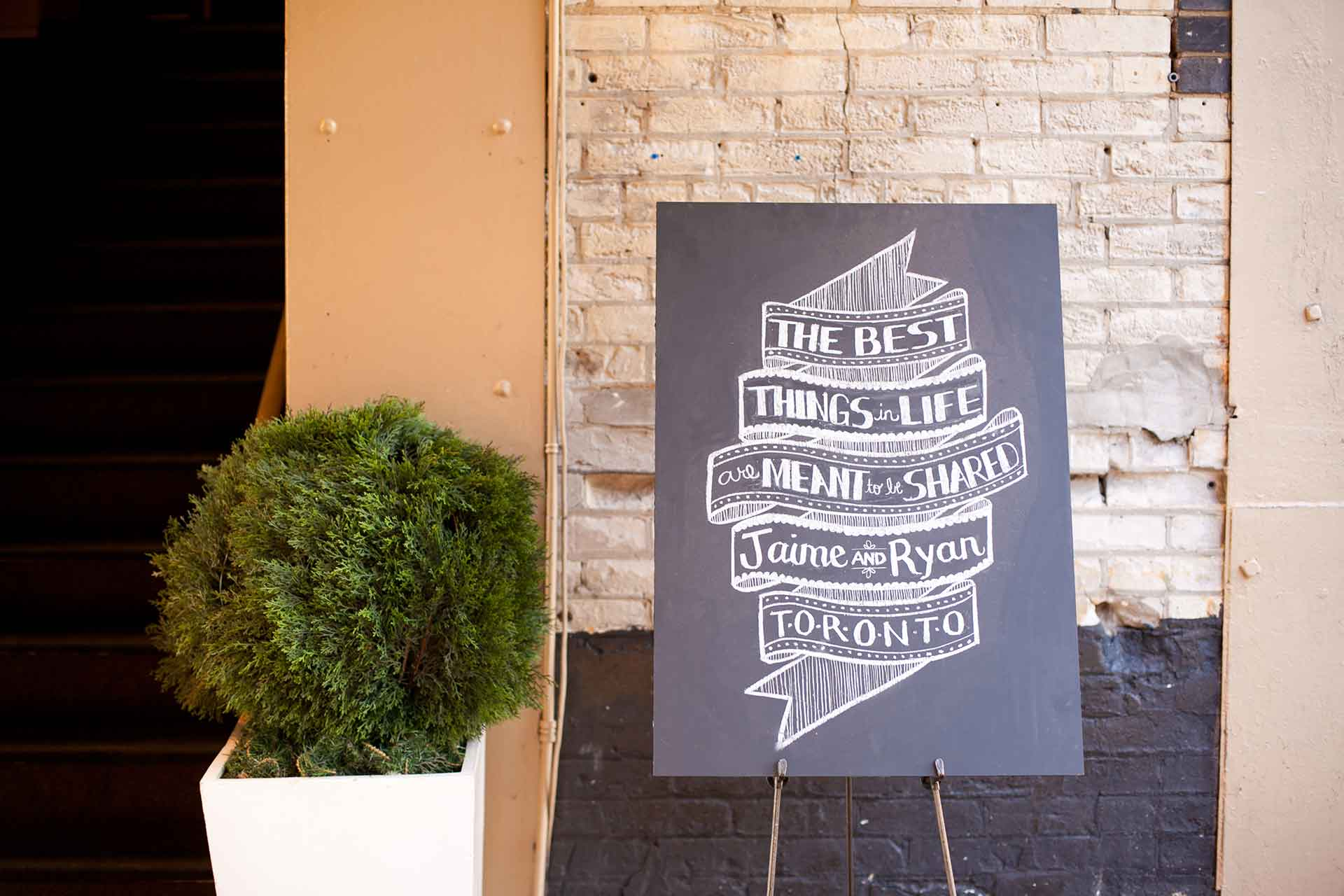 Wedding Venues Downtown Toronto Best Chalkboard Sign Design