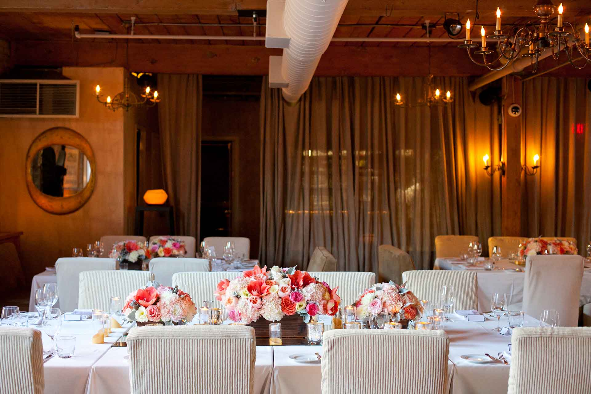 Toronto Wedding Venues - Restaurant Reception Tablescape Pink Theme