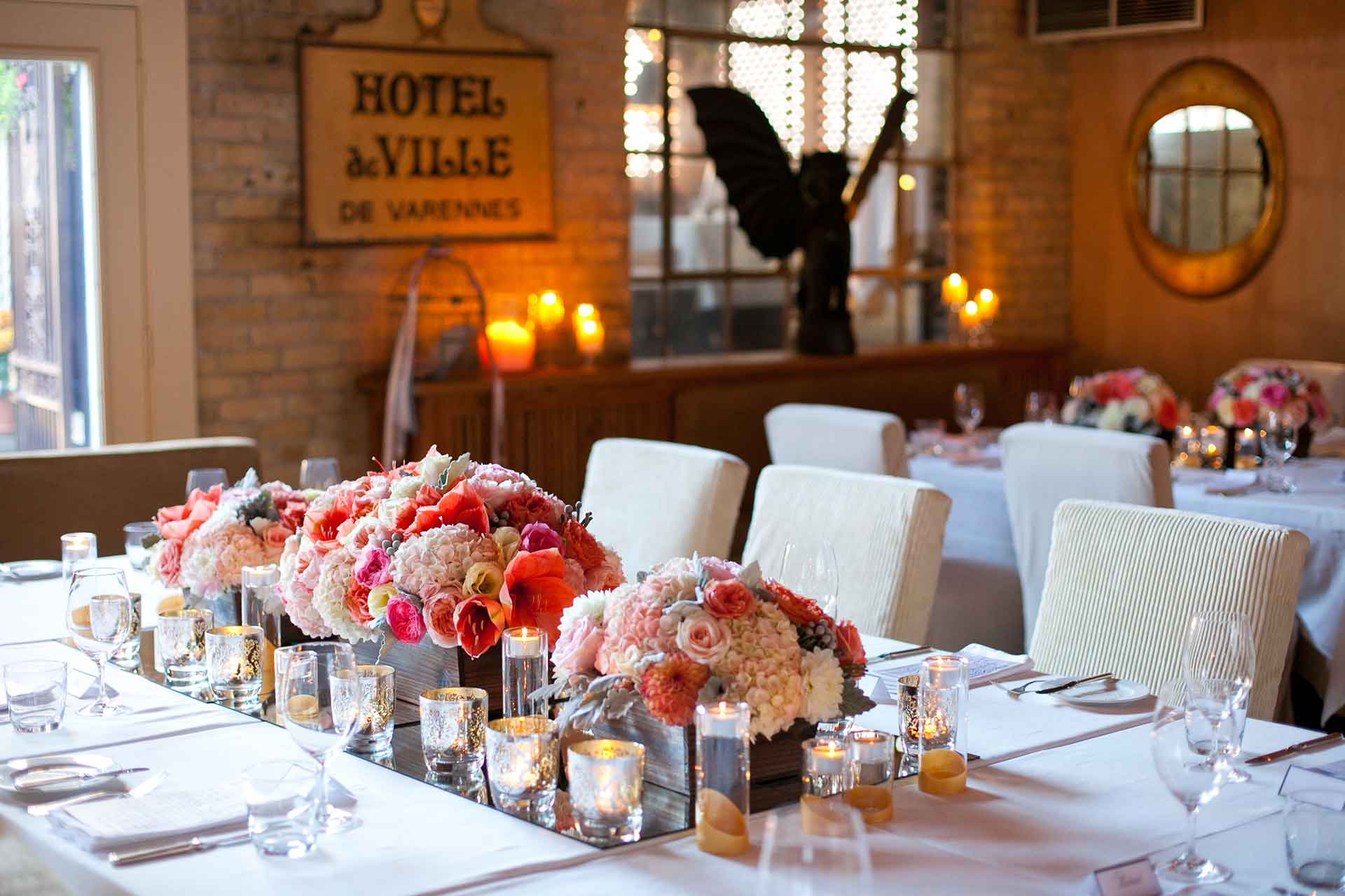 Toronto Wedding Venue - Restaurant Reception - Tablescape