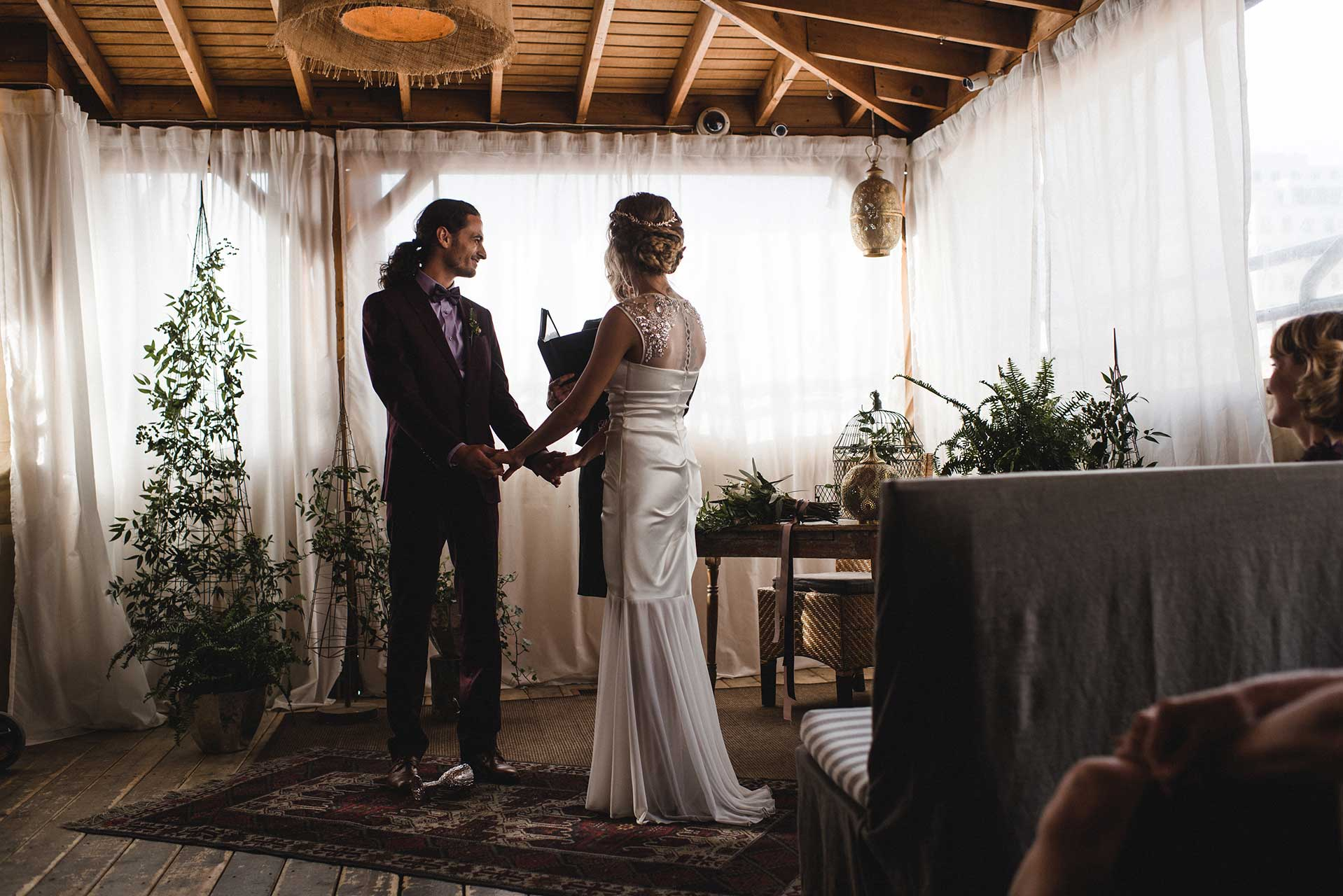 Unique Wedding Venues Toronto - Rooftop Terrace - Wedding Ceremony