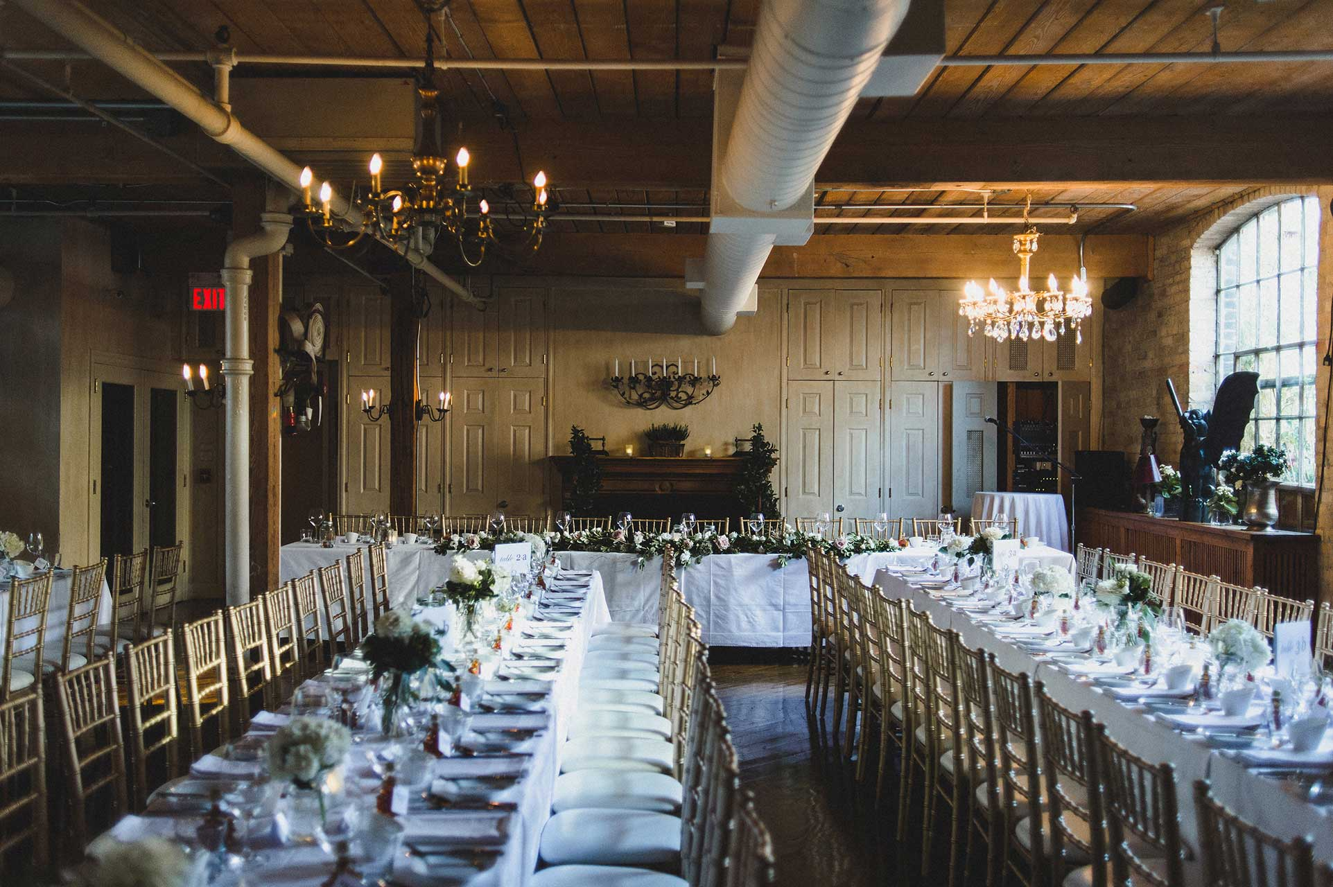 Unique Wedding Venues Toronto - Wedding Reception - Wedding Table Plan - Private Dining Room