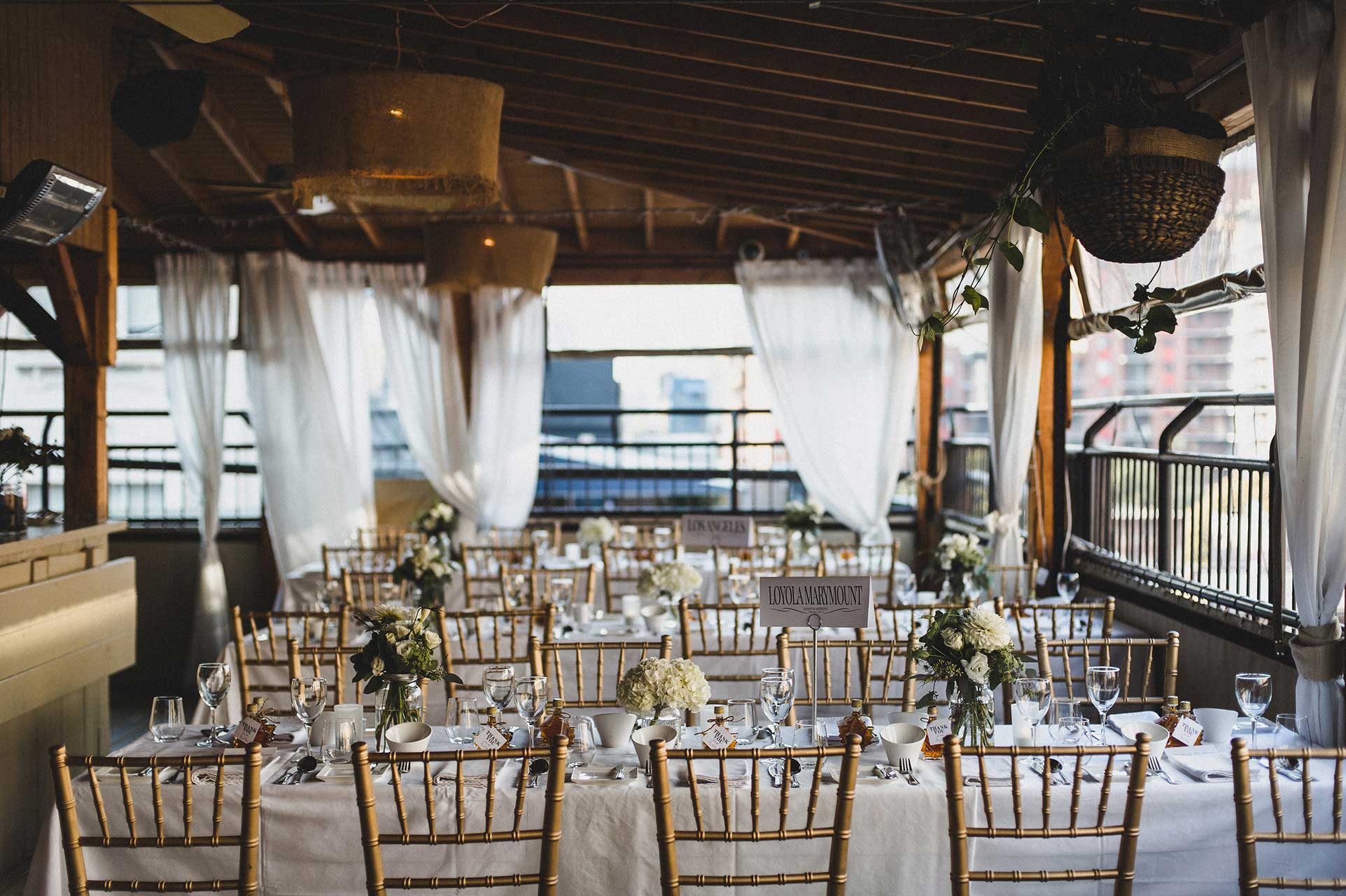 Outdoor Wedding Venues Toronto - Wedding Reception - Rooftop Terrace - Summer Weddings