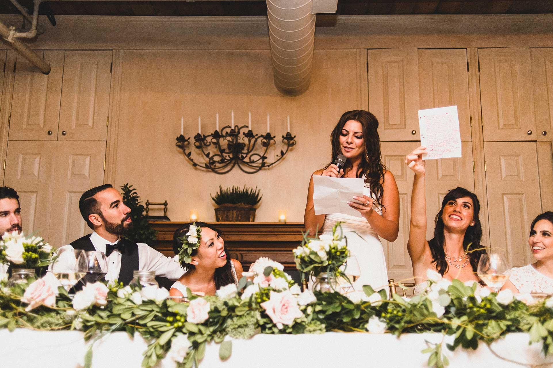 Unique Wedding Venues Toronto - Wedding Reception - Head Table