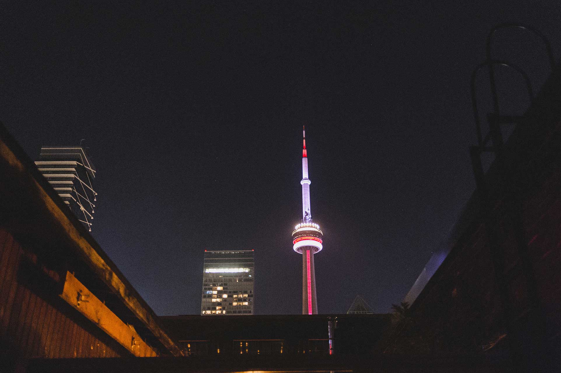 Wedding Venues Toronto - View of The CN Tower - Rooftop Terrace
