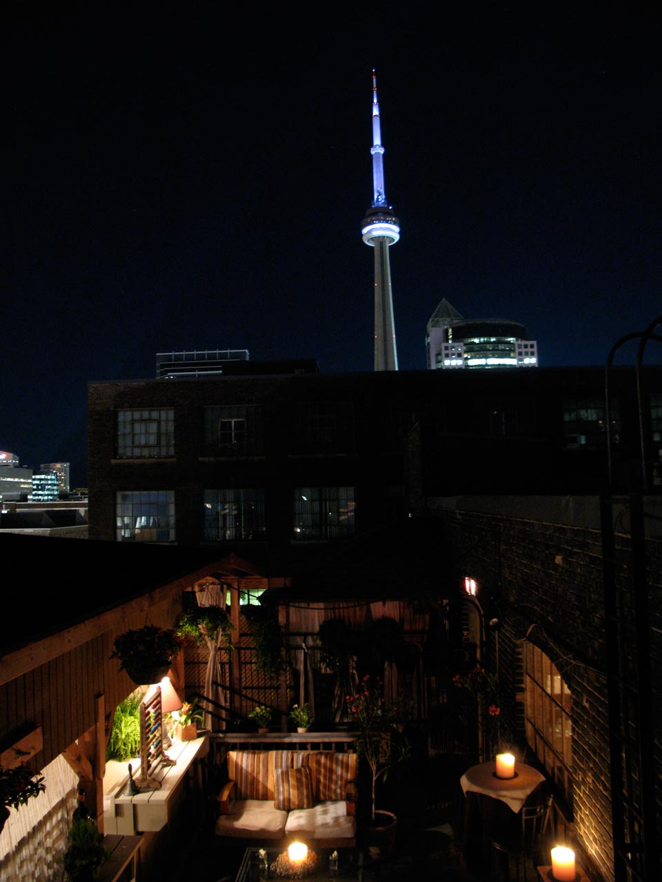 Toronto Event Venues - Rooftop Terrace - CN Tower View