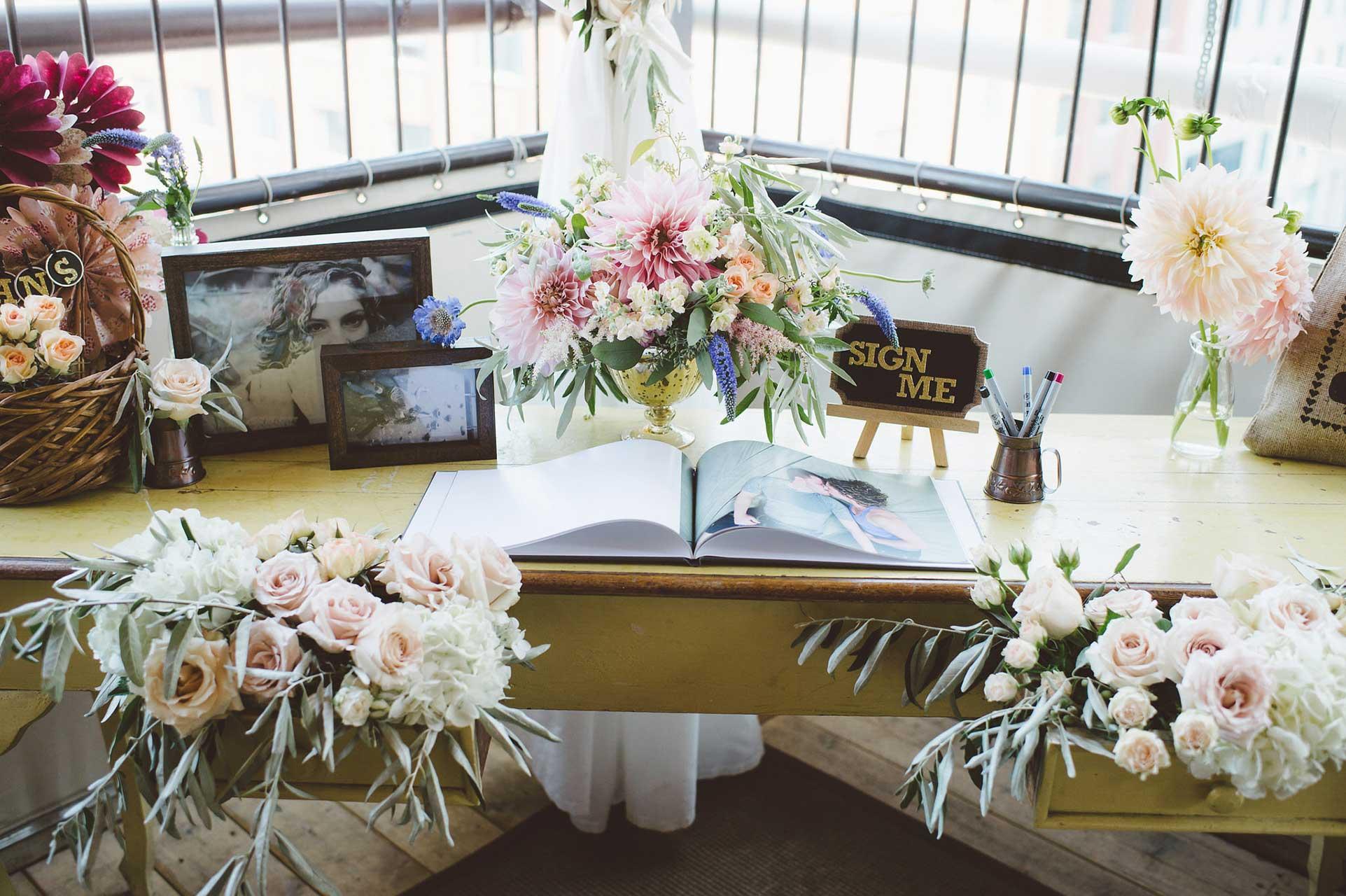 Wedding Venues Toronto - Wedding Guest Book - Vintage Wedding Flowers