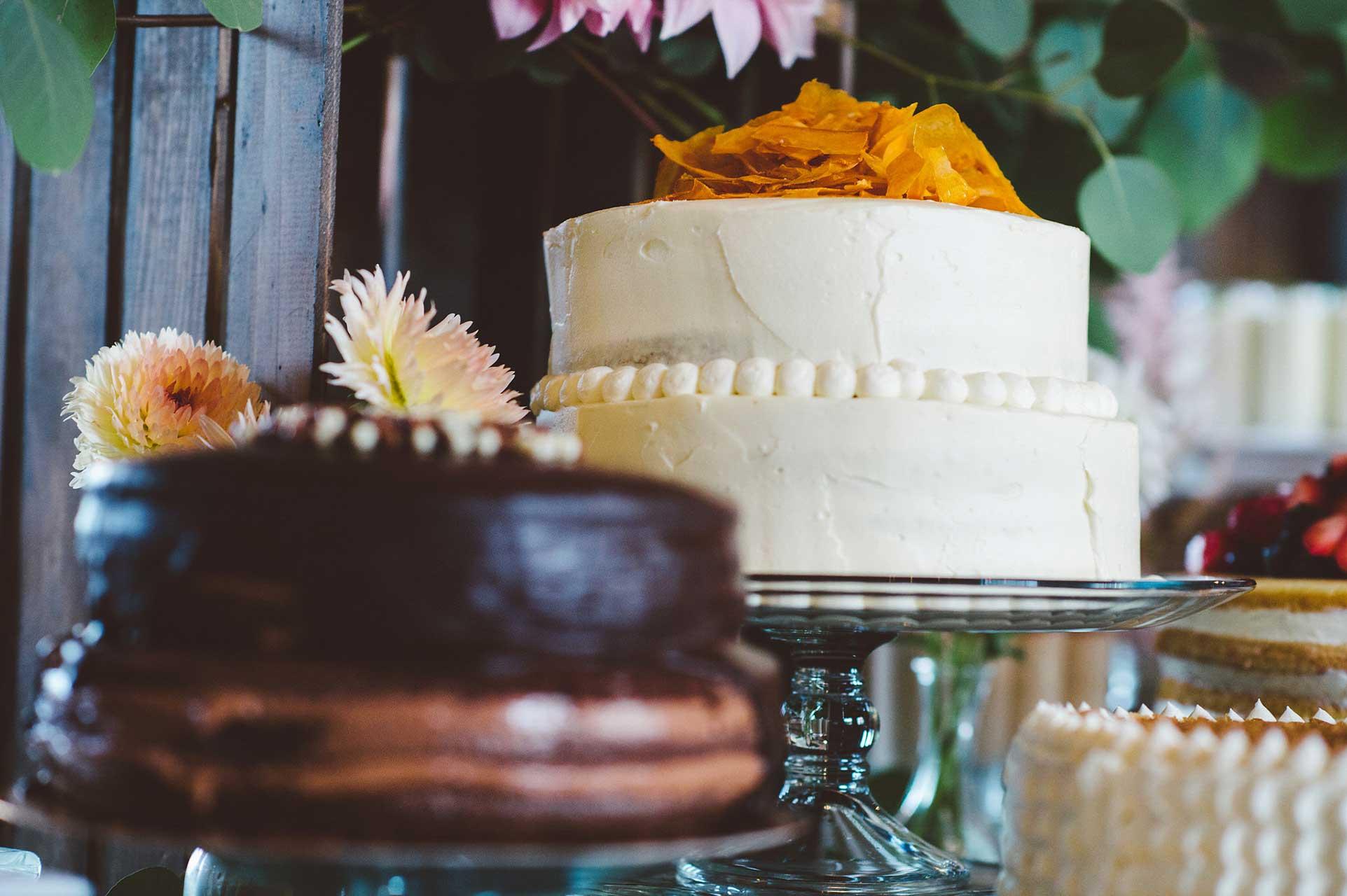 Wedding Ideas - Dessert Reception - Buttercream Wedding Cake