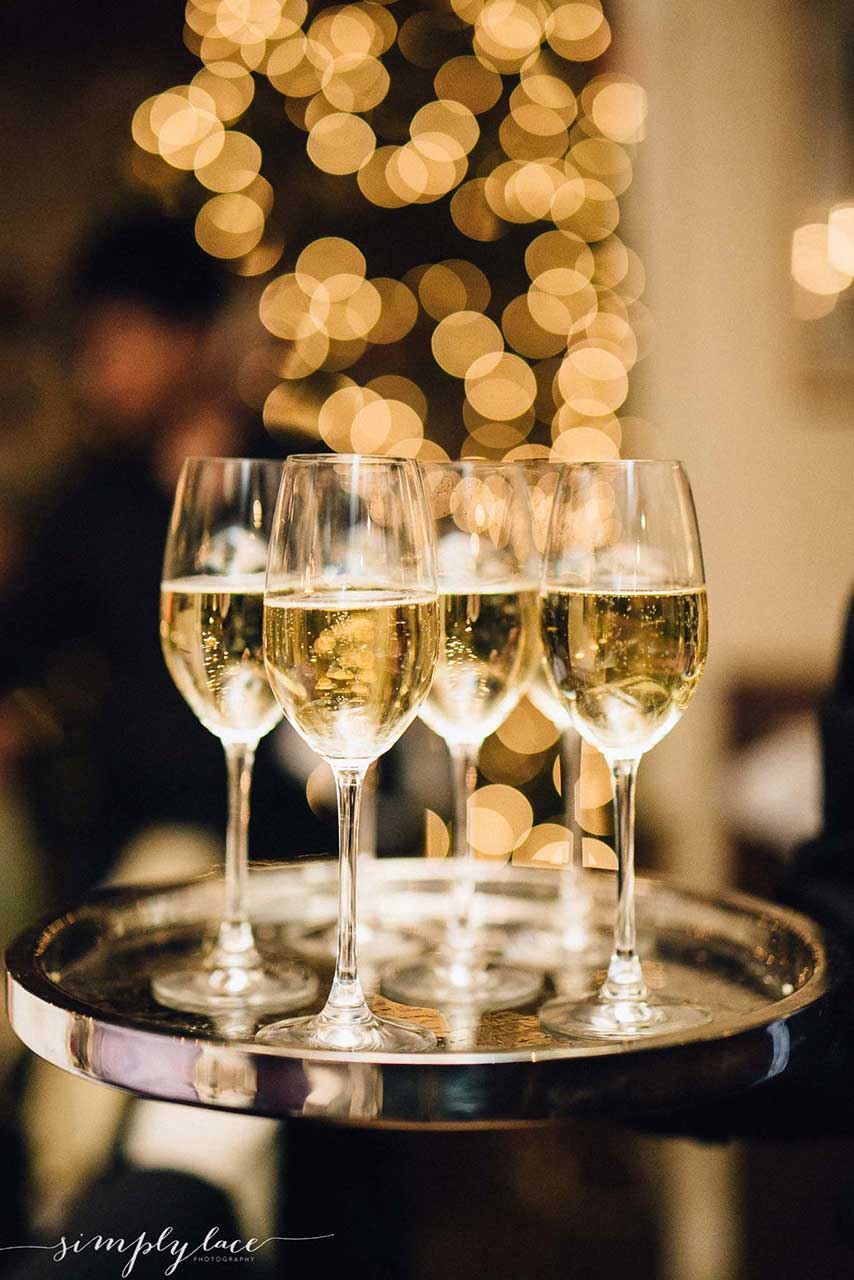 welcome drinks reception larissa weddings champagne event leo thefifth
