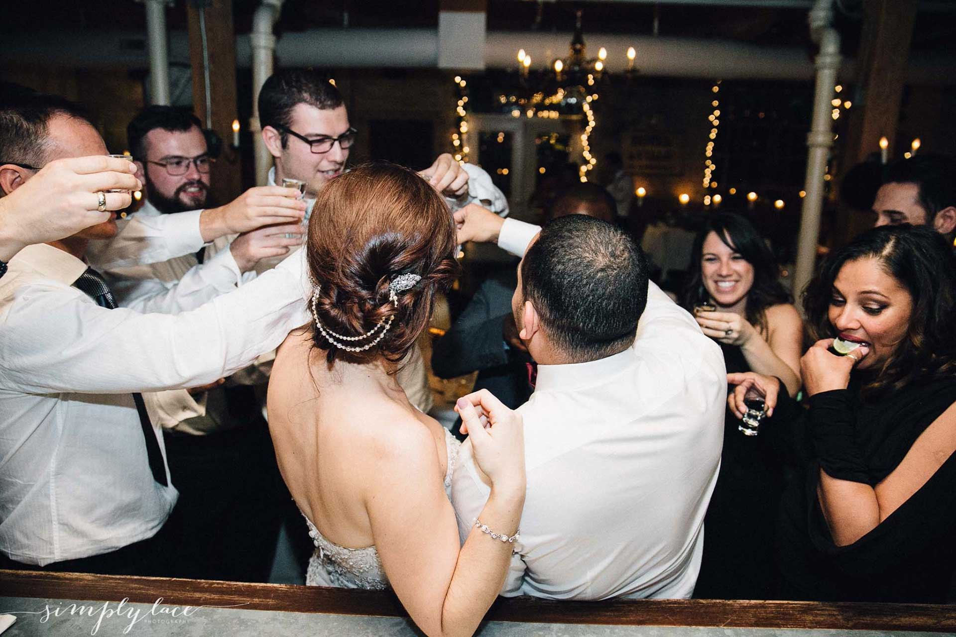 Unique Wedding Venues Toronto - Open Bar - Drinking with Guests before sit-down reception