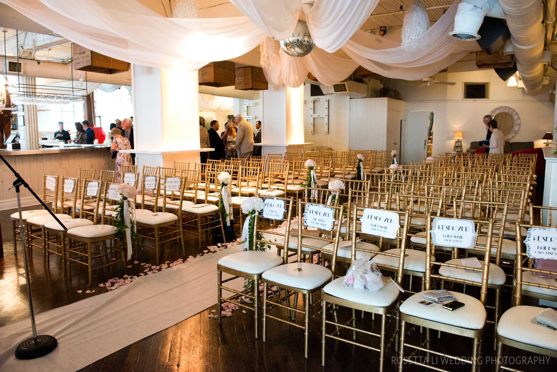 Wedding Venues Toronto - Wedding Ceremony - Chiavari Chairs - Urban Loft