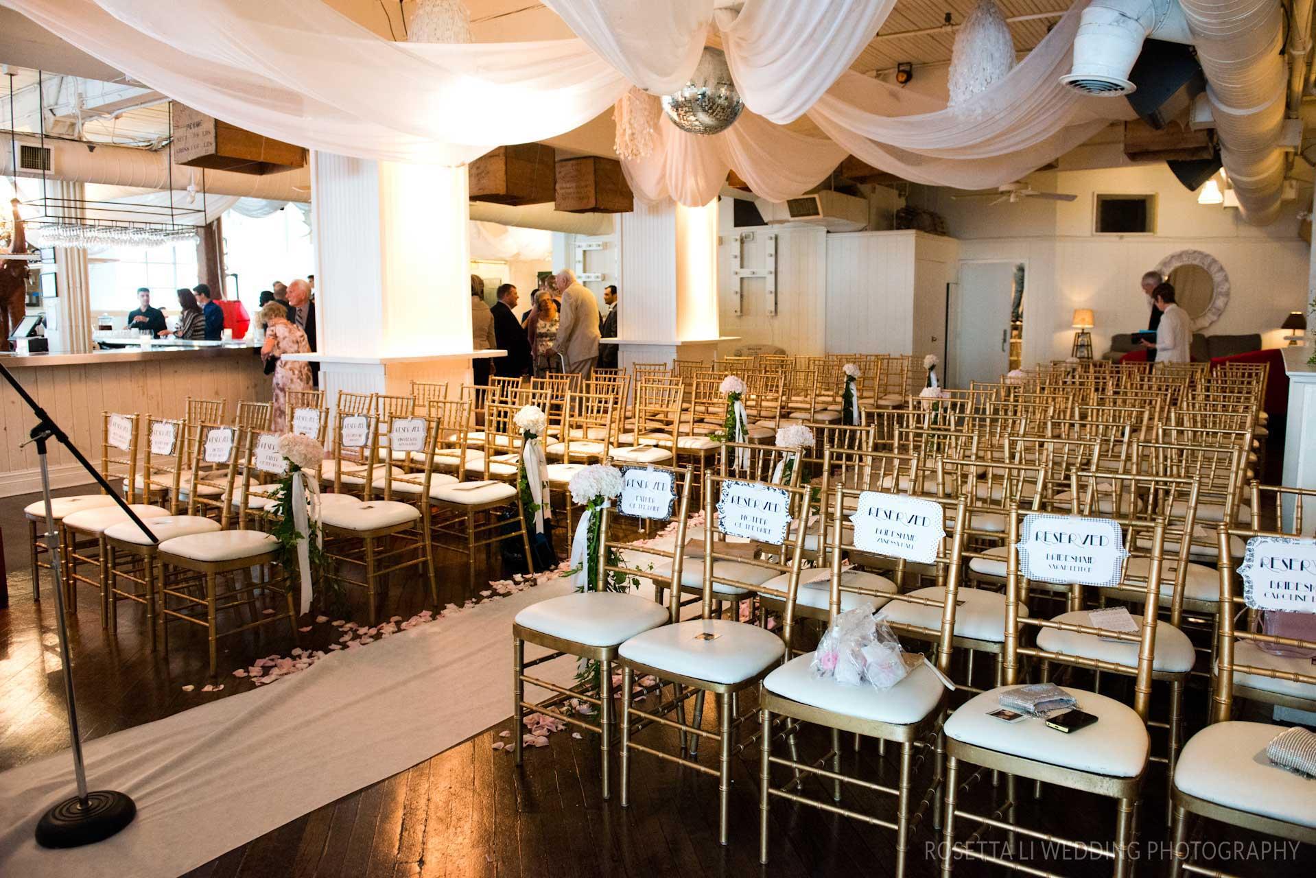 Wedding Venues Toronto - Wedding Ceremony - Chiavari Chairs - Urban Loft