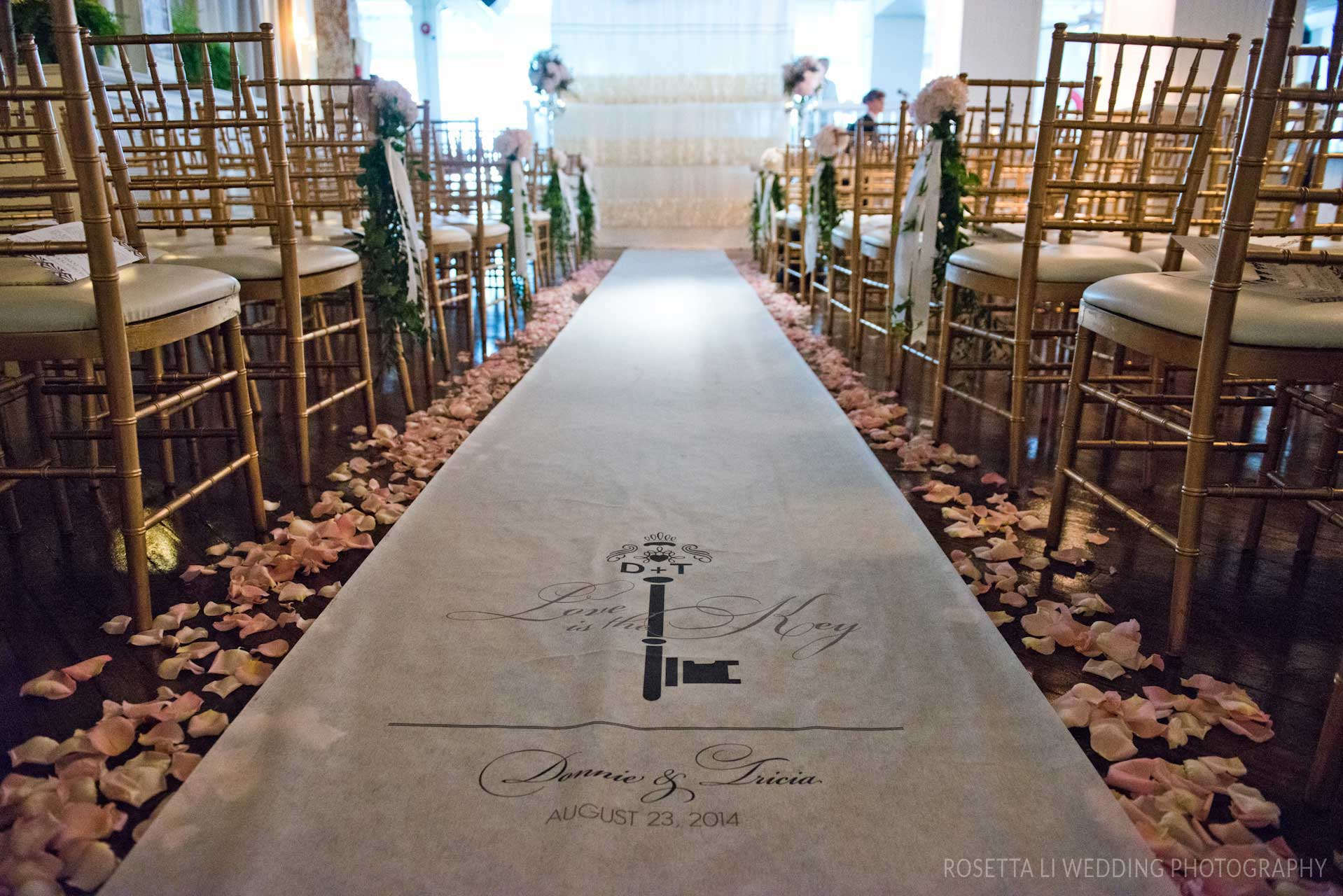 Unique Wedding Venues Toronto - Wedding Aisle Runner - Urban Loft
