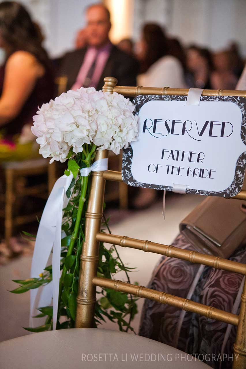 Wedding Ideas - Wedding Ceremony - Chiavari Chairs - Wedding Signs