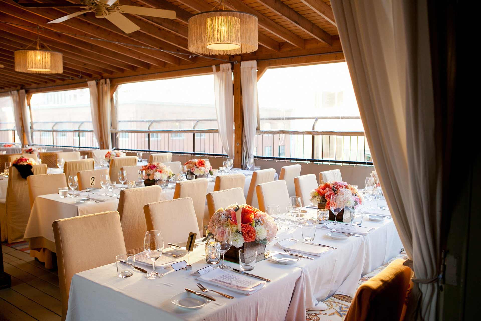 Toronto Wedding Venue Outdoor Rooftop Wedding Reception