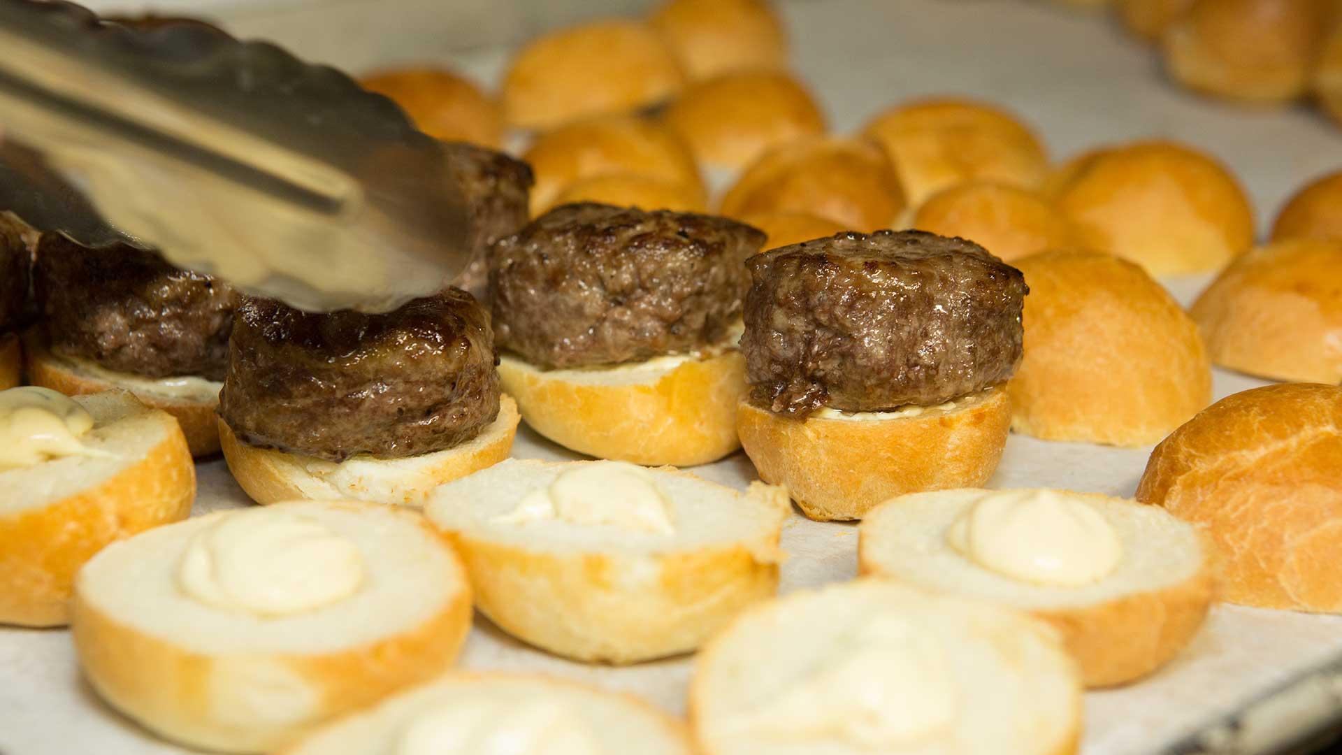 Wedding Catering Beef Sliders on Brioche Bun