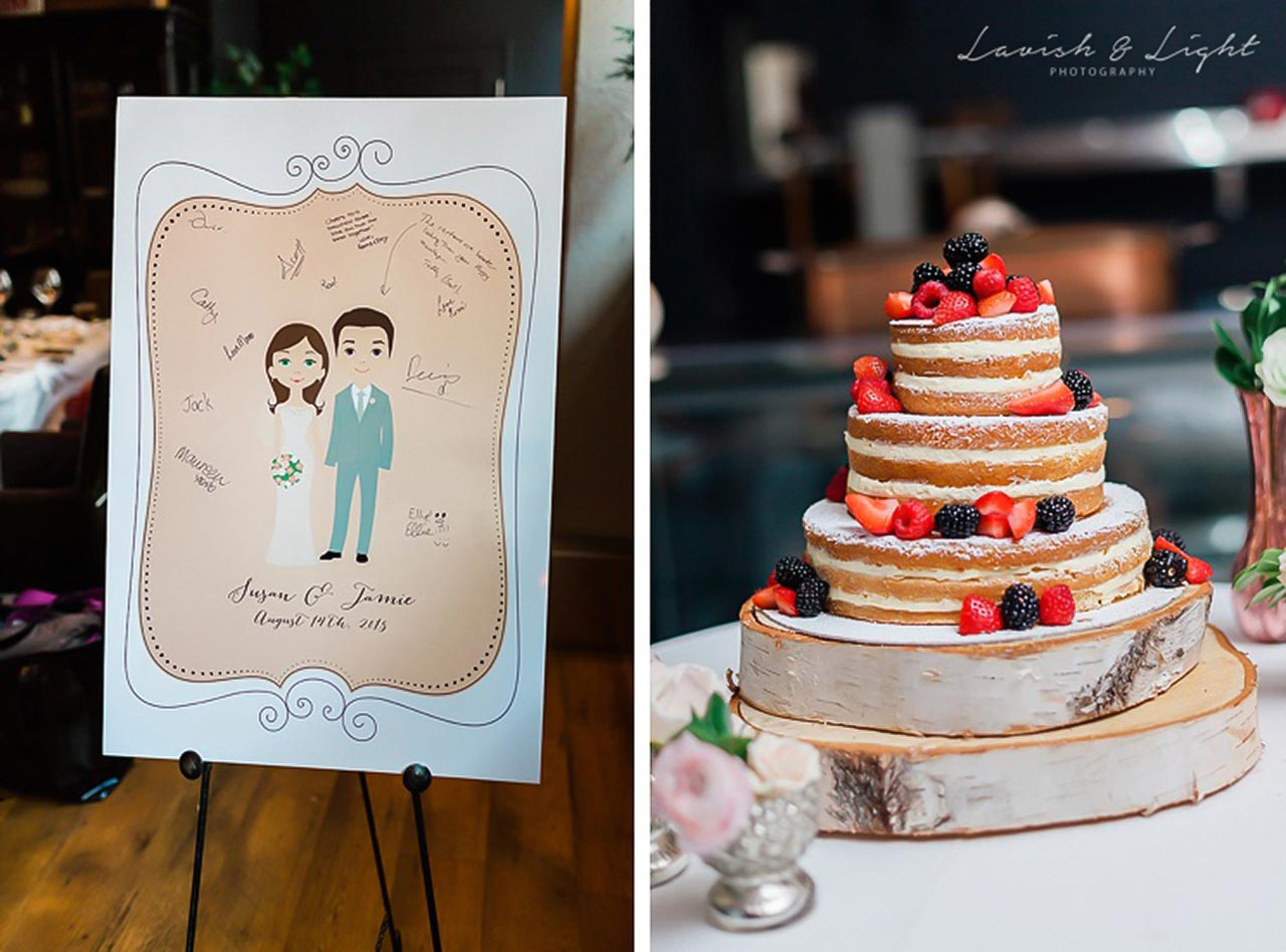 Intimate Wedding Venue Toronto - One Room at The Fifth - Naked Wedding Cake