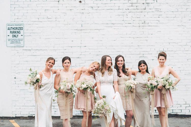 Fun Vintage Chic Wedding Toronto Wedding Photography Bridal Party