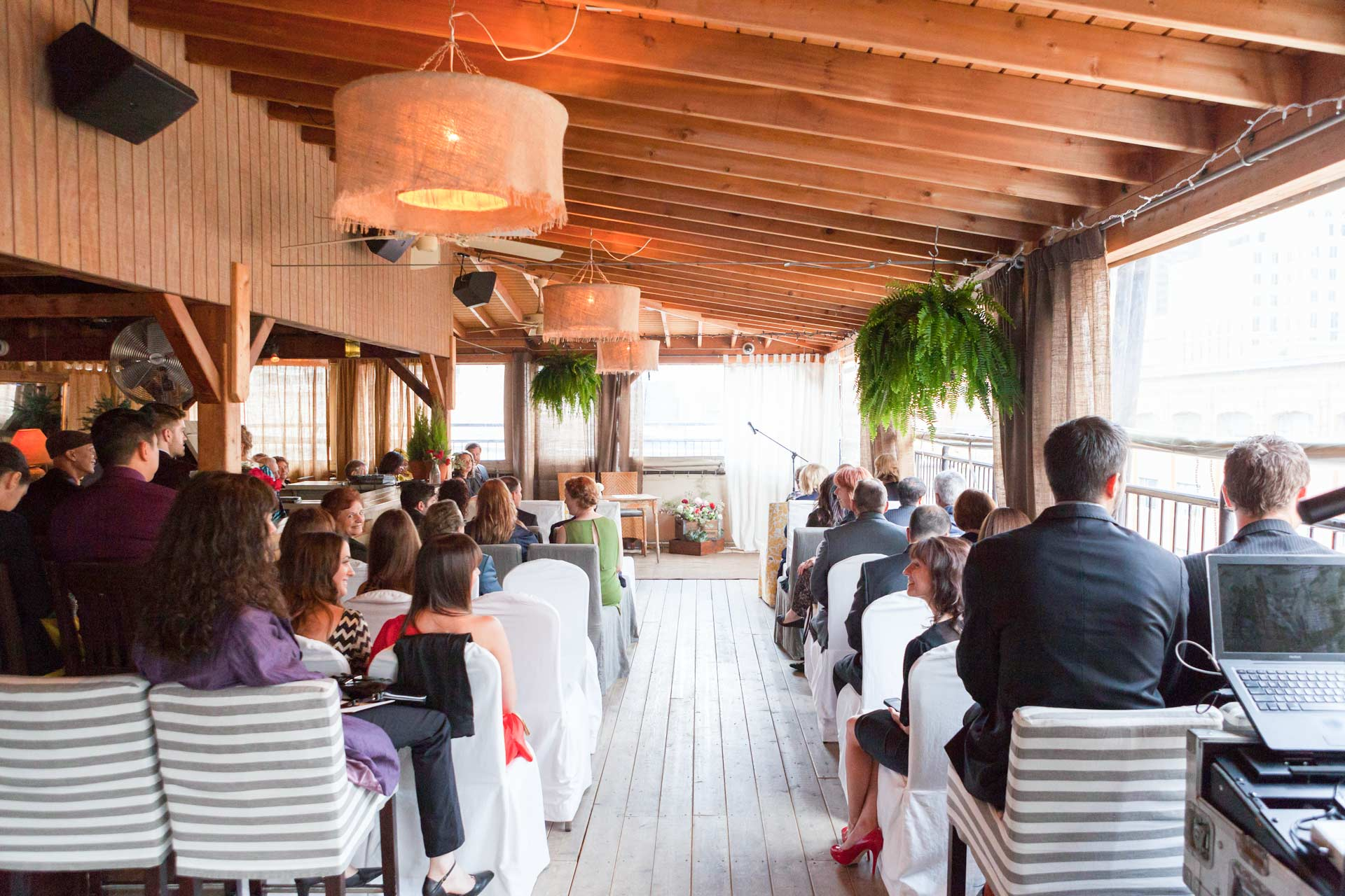 Rooftop Wedding Ceremony Toronto The Fifth Events and Weddings Venues